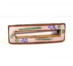 Vintage floral enamel scatter pin