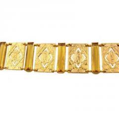 German glass & cut out link bracelet