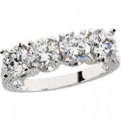 White gold art deco style engagement ring