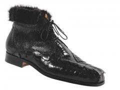 Mauri hornback, Ostrich leg & mink boot