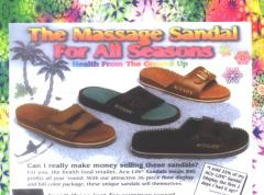 Acu Life Massage Reflexology Sandals/ black or