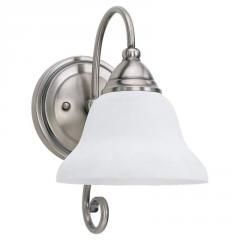 One Light Nickel Wall Light