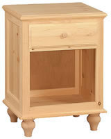 One Drawer Night Stand, solid top