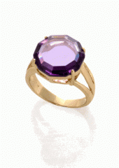 Je t'aime Amethyst Round Ring