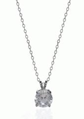 White Gold Solitaire Pendant Necklaces