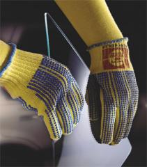100% Kevlar Dotted String Knit Gloves
