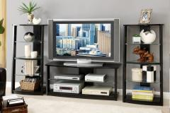 TV Stand with 2 Media Shelves
