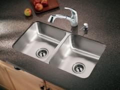 Camelot Stainless steel 20 gauge double bowl sink