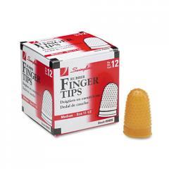 Rubber Finger Tips, Size 11 1/2, Medium, Amber,