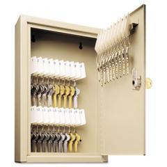 Uni-Tag Key Cabinet, 30-Key, Steel, Sand, 8 x 2