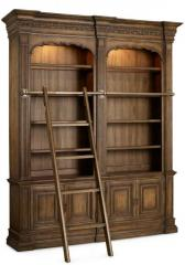Double Bookcase with Ladder and Rail Rhapsod