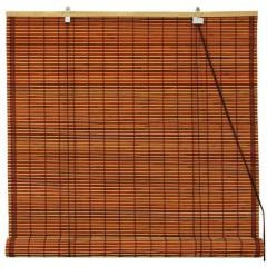Burnt Bamboo Roll Up Blinds