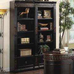 Nicolas Traditional Carved Combination Bookcase