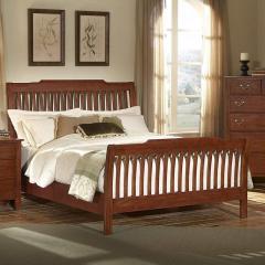 Simply Cherry California King Rake Sleigh Bed