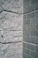 Rockface masonry units