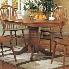 Mackinaw Oval Single Pedestal Table