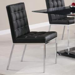 Rolien Plush Black Vinyl Chair