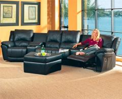 Promenade Casual Leather Reclining Theater