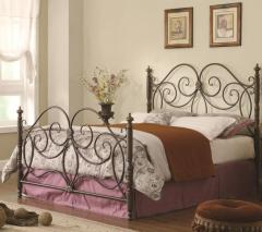 Queen Iron Headboard & Footboard Bed