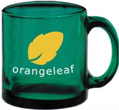 Green Glass Coffee Mug