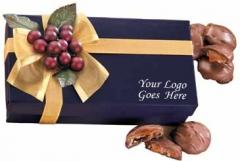 Navy Gift Box With Pecan Turtles (GQ# 162542)