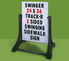 SWINGER® Sidewalk Standard Changeable Msg. Sign -