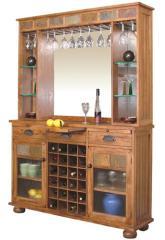 Rustic Oak Wall Bar Set.