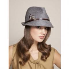 Eugenia Kim Grey Craig Feather Detail Hat