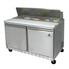 "48"" 12 Pan 2 Door Sandwich Prep Table"