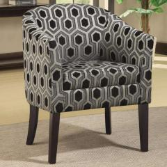 Charlotte Hexagon Patterned Accent Chair