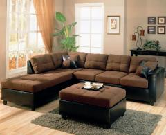 Harlow Contemporary Two Tone Sectional Sofa