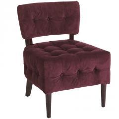 Fionn Chair - Aubergine Velvet