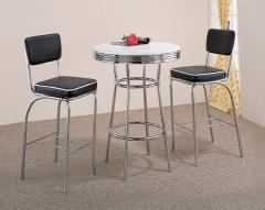 Coaster Contemporary Bar Table with 2 Bar Stools