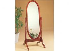 Oval floor mirror
