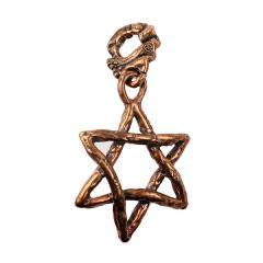 Bronze Star of David Pendant (Solid Bronze)