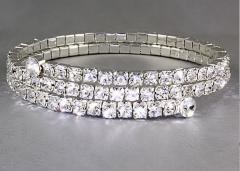 2 Row Wrap Around Swarovski Crystal Flex Cuff