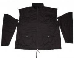 Black Zip Off Sleeves Winter Jacket