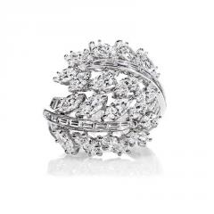 Feather Diamond Ring