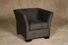 Charcoal suede armchair