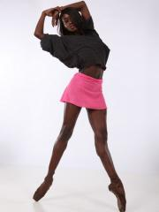 Krinklespun Silky Nylon Pull-On Mini Skirt