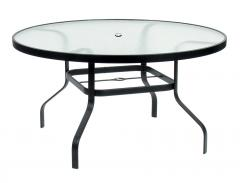 "42"" Round glass coffee table"