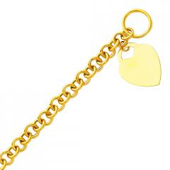 Superlative 14K Yellow Gold Hollow Rolo Link with