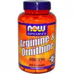 Arginine & Ornithine, 500/250, 250 Capsules