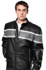 Deluxe Series Leather Motorcycle Jacket W/ Wide