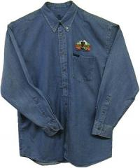 Collar Denim Work Shirt