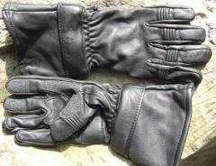 Deer Skin Leather Glove With Zip Off Gauntlet Cuff