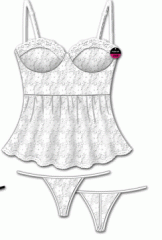 Summer Love White Lace Cami & G-String