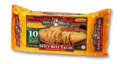 Spicy Beef Crispy Tacos, 10-Pack — 20oz.