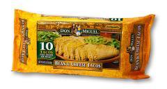Bean & Cheese Crispy Tacos, 10-pack — 20oz.