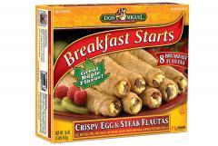 DON MIGUEL® Crispy Egg and Steak Flautas